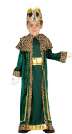 KING WISE MAN IN GREEN NATIVITY COSTUME WITH CROWN